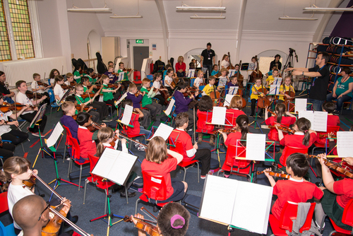 Sistema children orchestra press conference