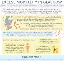 What is excess mortality infographic - if you require an accessible version or a transcript please email info@gcph.co.uk